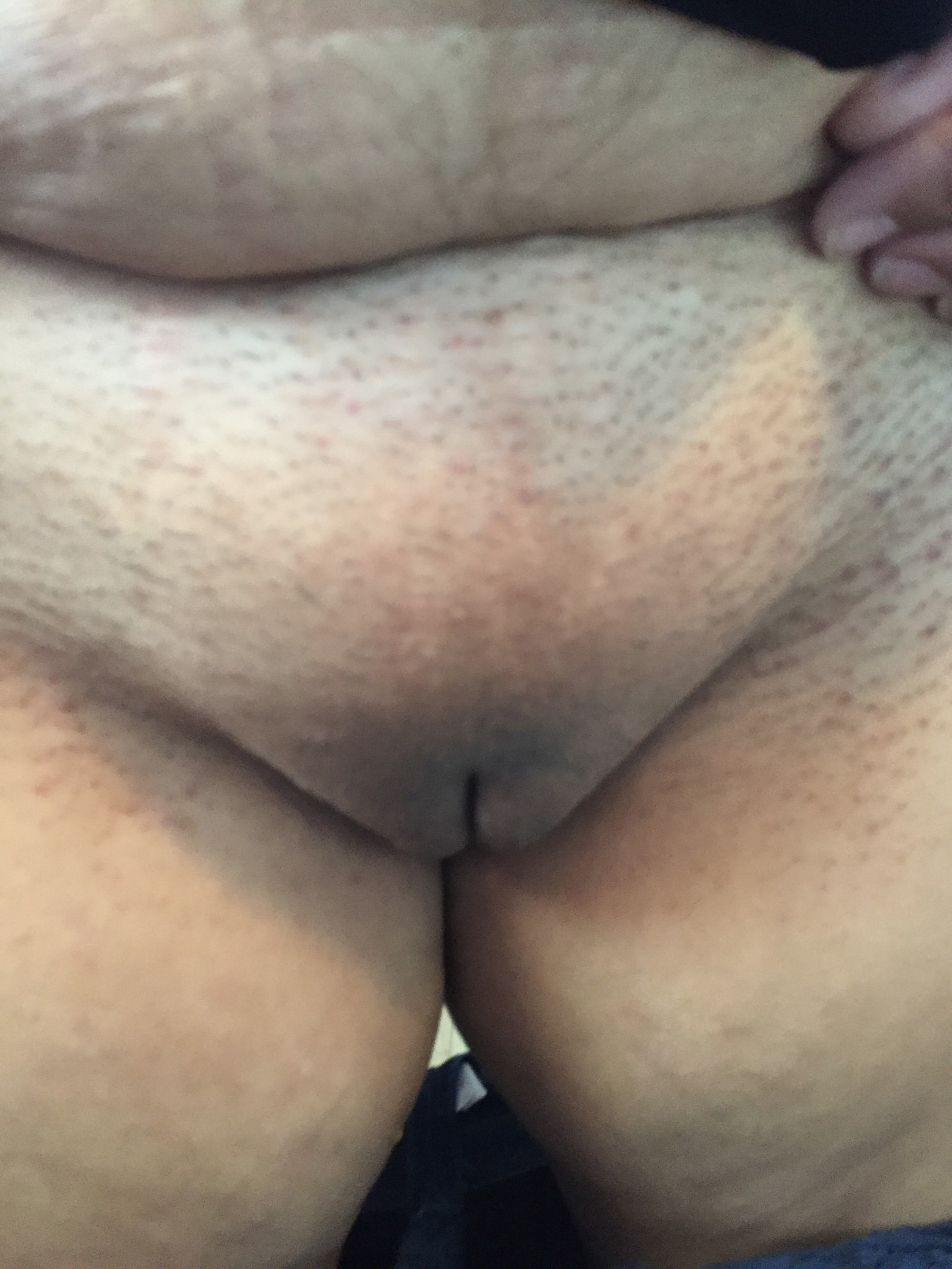 Wet dripping black pussy