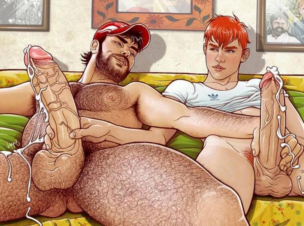 Dad and boy cartoon hot gay porno